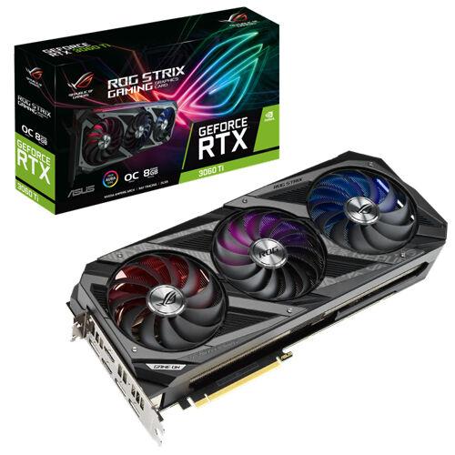 Asus ROG Strix GeForce RTX 3060Ti OC Edition 8GB GDDR6 Graphics Card   90YV0G03-M0NA00