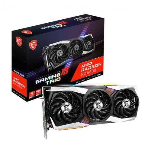 Msi Radeon RX6800 Gaming X Trio 16GB GDDR6 Graphic Card   912-V396-003
