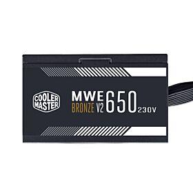 Cooler Master MWE 650 Bronze 230 - V2  650W  Non-Modular PSU | MPE-6501-ACABW-B