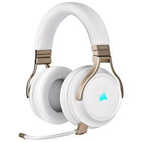 Corsair Virtuoso RGB Wireless High-Fidelity 7.1 Surround Sound Gaming Headset - Pearl | CA-9011224-EU
