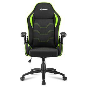 Sharkoon Elbrus 1 Gaming Chair - Black/Green | S-ELBRUS-1-BK/GN