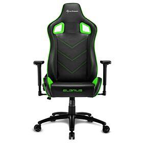 Sharkoon Elbrus 2 Gaming Chair - Black/Green | S-ELBRUS-2-BK/GN