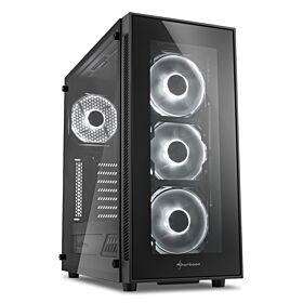 Sharkoon TG5 ATX Case - White Fans | S-TG5-WF