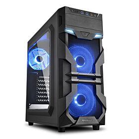 Sharkoon VG7-W ATX Case - Blue | S-VG7-W-B
