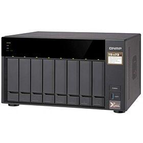 Qnap TS-873-4G-US 8-bay NAS/iSCSI IP-SAN, AMD R series Quad-core 2.1GHz, 4GB RAM, 10G-ready | TS-873-4G