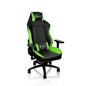 Thermaltake Tt eSPORTS GT Comfort C500 Big & Tall Racing Bucket Seat Style Ergonomic Gaming Chair Black/Green | GC-GTC-BGLFDL-01