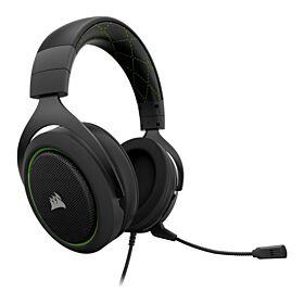 Corsair HS50 Stereo Black/Green Gaming Headset | CA-9011171-AP
