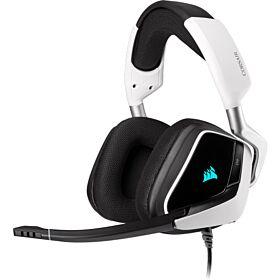 Corsair Void RGB Elite USB Premium Gaming Headset With 7.1 Surround Sound - White | CA-9011204-NA