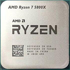 AMD Ryzen 7 5800X 8 Cores, 16 ThreadsDesktop Processor - Tray  100-100000063