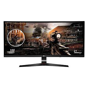 "LG 34"" Class 21:9 UltraWide Full HD IPS Curved Gaming Monitor, 2560 x 1080 Resolution, AMD FreeSync - Black / Red | 34UC79G"