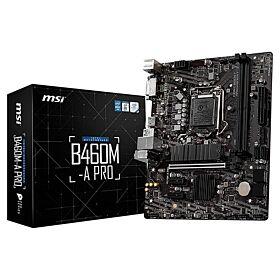 MSI B460M-A Pro LGA 1200 Micro ATX Motherboard | 911-7C88-002