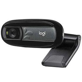 Logitech C170 HD XVGA (1024 x 768) Built-in mic 5 megapixels, Webcam - Black | 960-001066