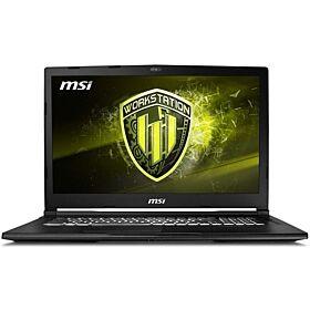 MSI WE63 8SI Intel Workstation Laptop (Core i7-8750H 2.2Ghz, 16GB Ram, 1TB HDD+256GB SSD, 4GB Nvidia Quadro P1000 GDDR5, Win10) | 9S7-16P632-650