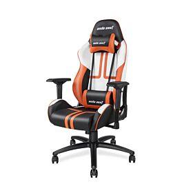 Andaseat Anderson E-sports Chair CJ limited edition Computer chair  - Black / White / Orange | AD7-05-BWO-PV
