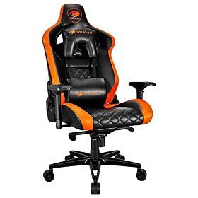 Cougar Armor Titan Ultimate Gaming Chair with Premium Breathable PVC Leather - Black / Orange | ARMOR-TITAN-ORANGE
