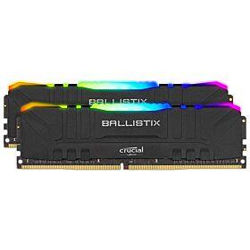 Crucial Ballistix RGB 16GB Kit (2 x 8GB) DDR4 3200 MHz Desktop Gaming Memory - Black | BL2K8G32C16U4BL