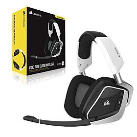 Corsair Void RGB Elite Wireless Premium 7.1 Surround Sound Gaming Headset - White | CA-9011202-NA