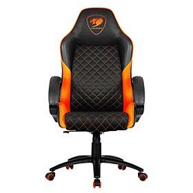 Cougar Fusion High-Comfort Gaming Chair - Black / Orange