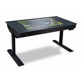 Lian Li DK-05F Dual eATX Tempered Glass RGB Desk - Black | DK-05F