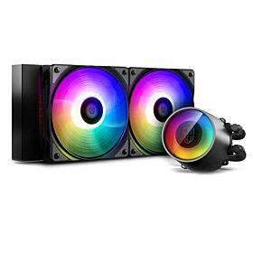 DeepCool Gamer Storm Castle 240 V2 ARGB AIO CPU Liquid Cooler   DP-GS-H12AR-CSL240V2