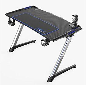 DXRacer NEX Gaming Desk - Black/Silver/Blue