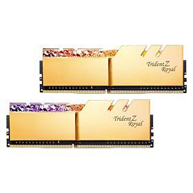 G.Skill Trident Z Royal DDR4-4000MHz CL19-19-19-39 1.35V 32GB (2x16GB) Desktop Memory - Gold   F4-4000C19D-32GTRG