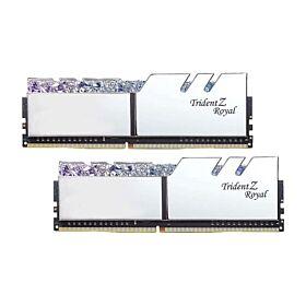 G.Skill Trident Z Royal DDR4 32GB (16GBx2) 4000MHz Intel XMP 2.0 High Class RGB Performance Memory - Silver   F4-4000C19D-32GTRS
