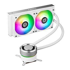 Lian Li Galahad 240mm AIO ARGB Liquid CPU Cooler - White | GALAHAD 240