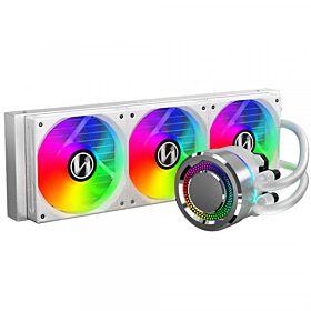 Lian Li Galahad 360mm  AIO ARGB Liquid CPU Cooler - White | GALAHAD 360