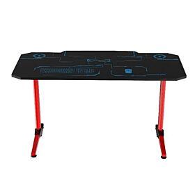 Anda Seat Eagle-1400 Gaming Desk (Black/Red) | AD-D-1400-07-BR