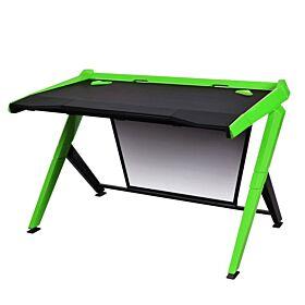 DXRacer Gaming Ergonomic Comfortable Desk - Black / Green | GD/1000/NE