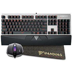 GAMDIAS 3-in-1 Combo Hermes E1 Mechanical Keyboard, Demeter E2 Mouse, Free Nyx E1 Mouse Mat   HERMES-E1