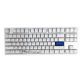 Ducky One 2 TKL Cherry Blue RGB White Switch Gaming Mechanical Keyboard Eng/Arabic - White