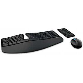 Microsoft Sculpt Ergonomic Desktop Keyboard, Mouse and Numeric Pad Set - Black | L5V-00018