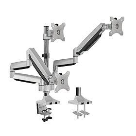 iDesign Triple Monitor Interactive Counterbalance Aluminum Monitor Arm - Metallic Grey | LDT10-C036