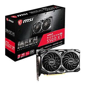 MSI AMD Radeon RX 5500 XT MECH 8G OC 8GB GDDR6 128-bit Graphics Card - Black | Radeon RX 5500 XT