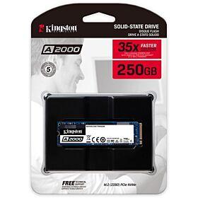 Kingston 250GB A2000 NVMe PCIe M.2 Internal SSD | SA2000M8/250G