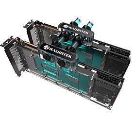 Raijintek SAMOS NV2080Ti -RBW  Water Block for Graphic card with Back plate | 0R40B00089